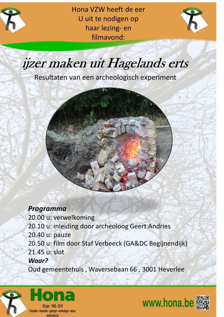 Poster ijzer maken uit Hagelands erts
